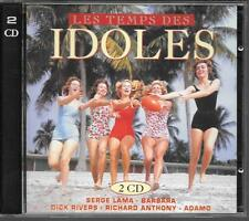 2 CD COMPIL 36 TITRES--LES TEMPS DES IDOLES--LAMA/BARBARA/ADAMO/RIVERS/ANTHONY..