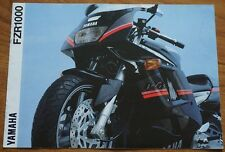 Yamaha FZR1000 Motorbike Motorcycle Bike Cycle Brochure 1991