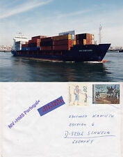 PORTUGESE CONTAINER SHIP MV HMS PORTUGAL A SHIPS CACHED COVER & PHOTOGRAPH