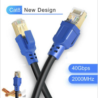 2020 PREMIUM Ethernet Cable CAT 8  Ultra High Speed LAN Patch Cord 1-100ft Lot