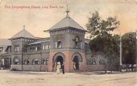 Hand Colored PC First Congregational Church in Long Beach, California~126238