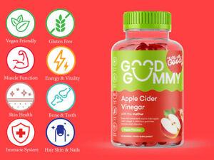 Good Gummy Nutrition Apple Cider Vinegar 60 Gummies Vegan Vitamin B12 Detox UK
