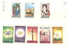 TRINITE ET TOBACO TIMBRES NEUFS ** THEME RELIGION, CROIX, EGLISES ECT...