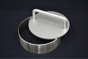 OXFNEIA® Burgerpresse aus Edelstahl 2-teiliges Set aus Stempel und Ring