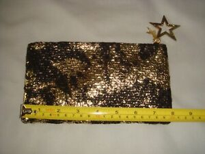 MAC SMALL Make Up/Cosmetics BAG - Gold & Black - IN EXCELLENT CONDITION