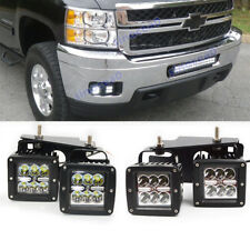 For 09-14 Chevrolet Silverado 1500/2500 24W LED Fog light Pod Hidden Bumper Kit