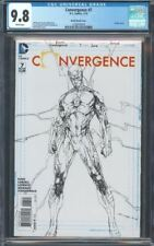 CONVERGENCE (2015) #7 CGC 9.8 NM/MT 1:100 SKETCH VARIANT WHITE PAGES