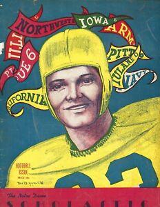 1946 publication  Notre Dame Fighting Irish Scholastic Football Review FAIR