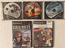 PS2 Games Call of Duty Finest Hour Ultimate Ninja 2 Dynasty Warriors 4 Lot of 5