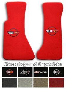 Chevrolet Corvette C4 Logo Cutpile Carpet Floor Mats - Choose Mat Color And Logo