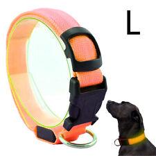 Hunde LED Halsband Orange Größe L 45-53 cm Leuchtstreifen Leuchtband Warn Signal
