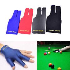 Blue Spandex Snooker Billiard Cue Glove Pool Left Hand Three Finger AccessoryP&L