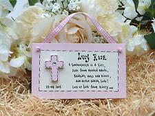 D24 Personalised Godchild Goddaughter Son from Godparent Christening gift plaque