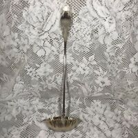 """Vtg Large 14"""" Long Handled Punch Bowl Or Soup Ladle Serving Spoon Silver Plated"""