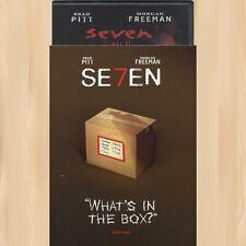 David Fincher Se7En Iconic Moments Dvd Morgan Freeman Seven Brad Pitt 0927