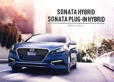 2016 Hyundai Sonata Hybrid and Plug In 12-page Car Sales Brochure Catalog