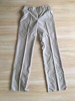 Women's Zanella Beige Khaki Flat Front Dress Pants Sz 6 Wool Stretch