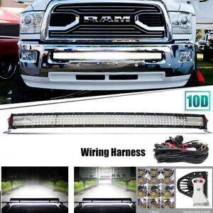 "For 2003-2018 Dodge Ram 1500 Express 40/42"" LED Light Bar Front Lower Bumper 10D"