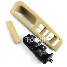 Beige Window Master Switch Bezel Cover Handle Trim VW Jetta Passat Golf 3pc/Set