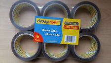 144 Rolls Brown Parcel Tape Packaging Box Sealing Extra Strong Sticky Quality