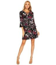 Jessica Simpson - Printed Lace-Up Shift Dress Size 12 #H160 MSRP $98.00