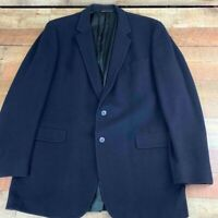 Hart Schaffner Marx Mens Cashmere Blazer Blue Notch Lapel Lined Wool Jacket M