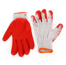 Pair of Red Gardening Gloves - Soft Gloves Covered With Red Latex Paint UK STOCK