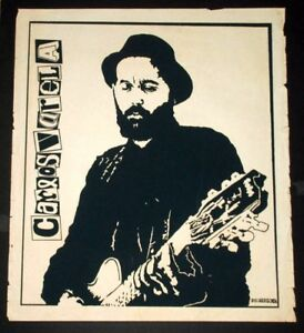 Original 1989 Cuban Concert Silkscreen Poster for Carlos Varela.Rock Music art