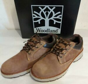 Men's Woodland M46 Leather Casual Smart Lace-Up Brown Shoes UK7 and UK9