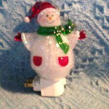 NOS CRACKER BARREL CHRISTMAS MINGLE & JINGLE SNOWMAN NIGHT LIGHT