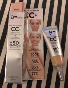 It Cosmetics Your Skin But Better CC+ Full Coverage Cream Shade Medium 4ml NIB