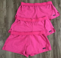 LOT of 3 Pairs Juniors Soffe Low Rise Knit Shorts Dark Pink sz Large