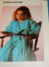 """Girl's Bobbly Bobble Robe Bathrobe Quick 'n Easy Crochet pattern fits 22"""" Chest"""