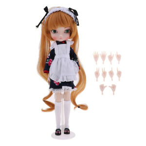 14-Joints Fully Articulated Make Up BJD Girl Doll Play Set Gift Box Collection