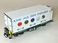 LGB 44890 RhB Engadin Container Car G Scale  - RARE ITEM - 1st in the series
