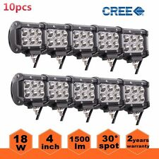 HOT 10PCS 4inch 18W CREE SPOT LED LIGHT BAR WORK  AMP OFROAD BOAT UTE CAR TRUCK