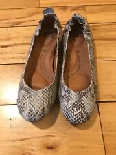 SOFFT Gray Snake Skin Shoes Leather Ballerina Flats 7 M NEW