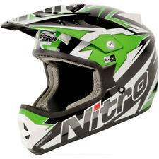 Nitro Shard MX Motorcycle Helmet Motorbike OFF ROAD Black/Green/White XL