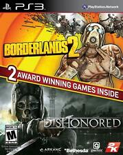 BORDERLANDS 2 & DISHONORED Bundle (PS3 PLAYSTATION 3) BRAND NEW
