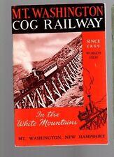 Mt. Washington Cog Railway 1975 Pub. by the mt washington cog railway co.