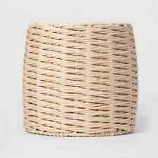 """Project 62 Tall Storage Basket Neutral Color Woven Paper Rope 13"""" High"""