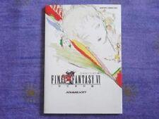 Final Fantasy VI 6 Reference Book / Japan Game SNES Art Material w/Tracking# JPN