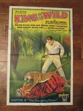 King Of The Wild   - Original 1931 Serial 1sheet Movie Poster - Boris Karloff