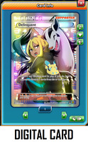 Pokemon TCG ONLINE Delinquent 98b/122 (DIGITAL CARD) Full Alt Art Promo