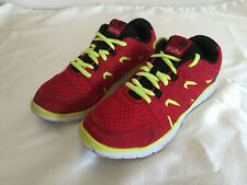 KARRIMOR RED RUNNING TRAINERS SIZE UK 2  EUR 34  (**)