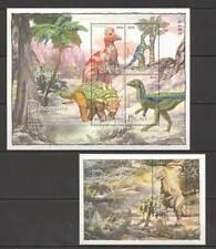 K0251 PALAU PREHISTORIC ANIMALS DINOSAURS 1BL+1KB MNH
