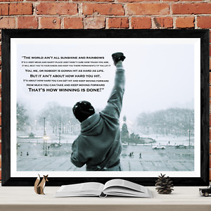Rocky Balboa Quote Gym Art Picture Poster Print