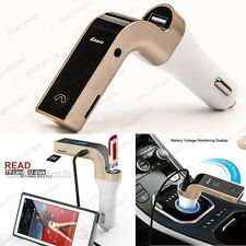 Bluetooth Car Kit Handsfree FM Transmitter Radio MP3 Player USB Charger & AUX #2