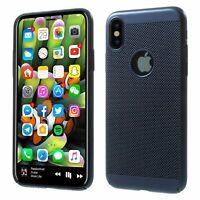 Apple IPHONE X/XS Case Phone Cover Protective Case Bumper Blau