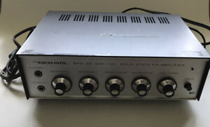 Vintage Realistic MPA-20 Solid State 120V / 12V PA Amplifier In Box Working